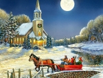 Evening Sleigh Ride