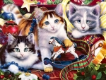 Holiday Mischief - Cats