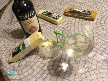 Dry Sherry and Gourmet Cheeses - Assortment, Wine, Cheese, Glass