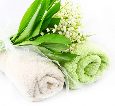 Lilies of the valley - Spa, Flowers, Towel, Lilies