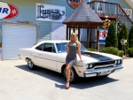 1970 Plymouth Road Runner 440 Six Pack and Girl
