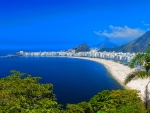 Tropical view of Copacabana Beach