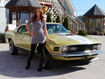 1970 Ford Mustang Mach 1 and Girl