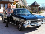 1966 Chevy Chevelle SS 396 Muncie 4 Speed 12 Bolt PS and Girl
