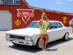 1966 Chevy Chevelle 300 Deluxe LSA 6.2 Supercharged Tremec 6Speed and Girl