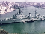 WORLD OF WARSHIPS  HMS Lion Tiger Class Cruiser C 34    Grand Harbour, Malta 1964 Independence