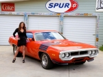 1972 Plymouth Road Runner 340 and Girl