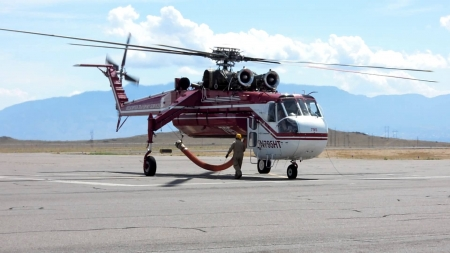 Sikorsky S-64 Firefighting - Firefighting, S-64, Helicopter, Sikorsky