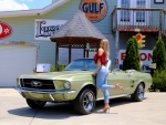 1967 Ford Mustang Convertible 289 Automatic and Girl