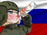 Girls und Panzer Katyusha Russian Flag