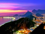 Beautiful sunset over Rio