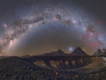 Milky Way over Chilean Volcanoes