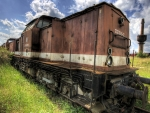 rusty old train