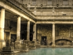 ancient roman bath house