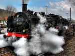 steaming locomotive