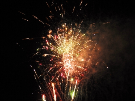 Fireworks In Abstract - Abstract, Fireworks, Summer, Sky, Photography