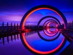 Falkirk Wheel Reflection, Scotland