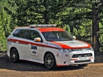 mitsubishi outlander gt pikes peek safety rally car