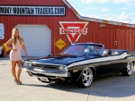 1971 Dodge Challenger Convertible 340 and Girl