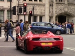 Red Ferrari In London