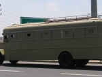 hw1 white armoured military bus