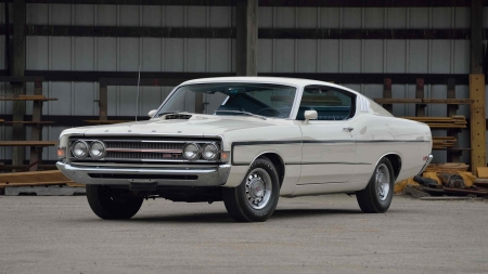 1969-Ford-Torino-GT - Muscle, Classic, White, Ford