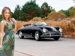 Linda Chase and a Classic Porsche