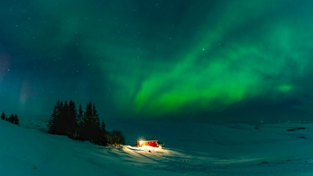 Northern lights - Landscape, Cold, Winter, Iceland