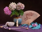 Still life with hand fan