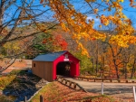 Covered bridge in Gilford, New Hampshire