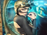 Steampunk Woman With Glasses