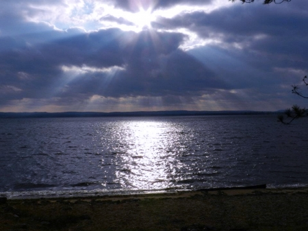 Lake Of Rays - Nature, Sun Rays, Photography, Sky, Clouds, Lake