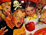 Halloween - Bobbing for Apples