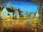 A Country Town in Autumn
