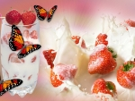 Strawberries and butterflies