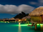 Night on the Island of Bora Bora