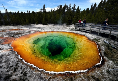 Morning Glory hot spring - Yellowstone National Park, Morning Glory, 14 May  2016, Hot spring, Upper Geyser basin