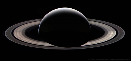 Cassini's Last Ring Portrait at Saturn - space, cool, Saturn, fun, planet