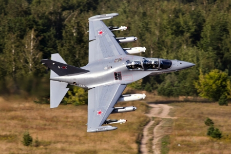 Russian YAK 130 Fighter Jet - military, russian, aircraft, fighter