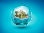 An island in a bubble