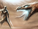 warrior vs dragon