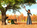 Couple at the Apple Tree