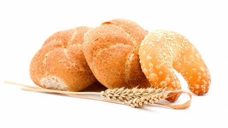 White buns - wallpaper, rolls, photography, abstract, white bread, seeds, wheat, background, bun, white