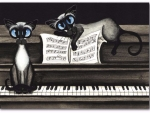 Cats And Piano