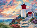 Lighthouse at Sunset F1C