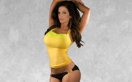 Denise Milani - sexy, long hair, Female, pretty, Model, brunette, face, gorgeous