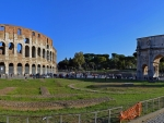 The Colosseum and Arch of Constantine in Rome