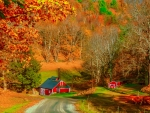 A Vermont farm in autumn