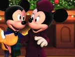 mickey and minnie with pluto