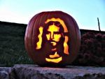 Jesus Face In Pumpkin